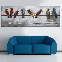 wholesale abstract oil painting unframed painting on canvas decoration of birds