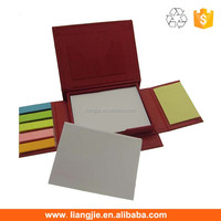 Paper cover ballpen sticky notes box,memo pad holder,memo box with sticky notes,