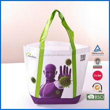 china supplier Customized logo foldable pink pp non woven shopping gift bags