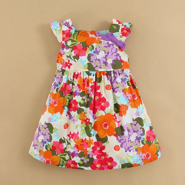Baby Garment Factory Wholesale Children Summer Dress Beautiful Design Gilrs Dresses In-stock