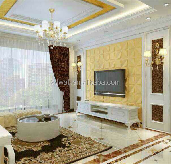 High quality waterproof relief Interior decorative PVC 3D wall panel/3D wall Board