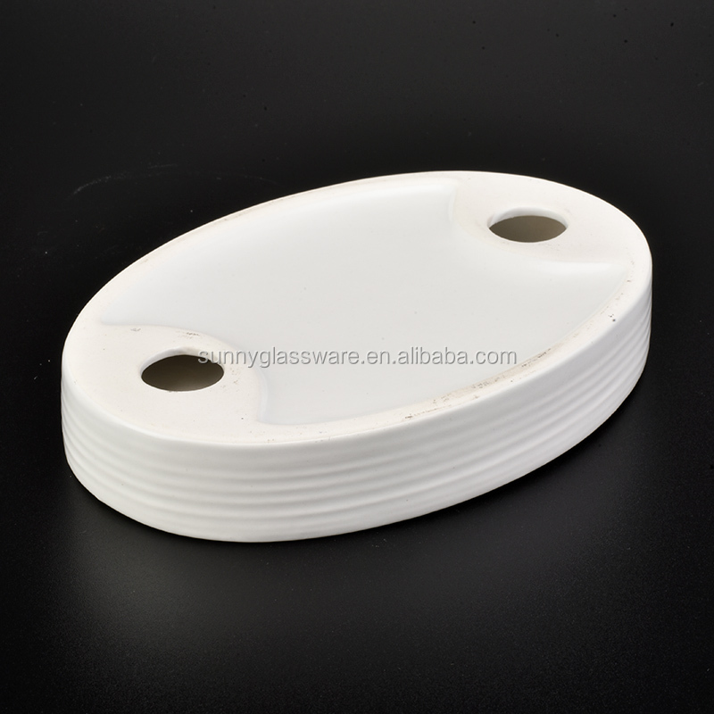 hot sales dot decoration ceramic soap dish