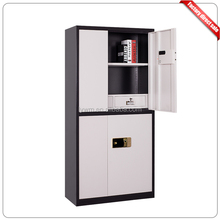 Steel filing cabinet with fingerprint lock for office or commercial use
