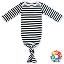 fashion baby long sleeve black white stripe knitted cotton sleeping bag winter warm sleeping sack for newborn toddler baby