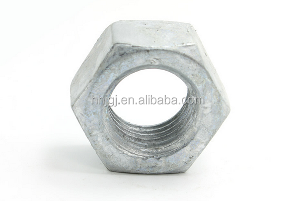 DIN7967 Self-locking sink holes nut hot dip galvanized pal hex nut DIN934 Over Tapped Hot Dipped Galvanized Hex Head Nuts