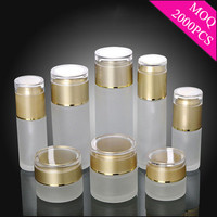 wholesale 20g/30g/50g glass jars and bottles matte glass jars for cosmetic packaging