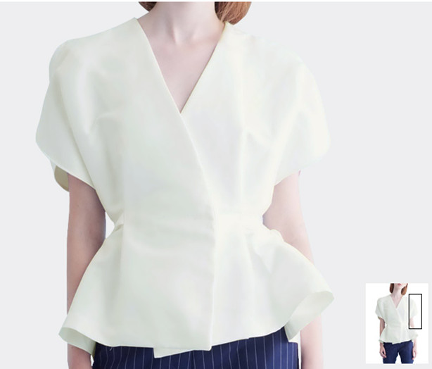 2017 latest design summer V neck collect waist flouncing simple top China garment factory