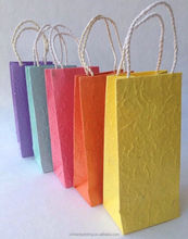 Pastel Handmade Mulberry Paper Gift Bags, Wedding Favor Bags