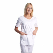 Ladies white hospital housekeeping uniform