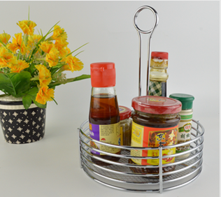 Metal Wire Table Caddy Menu & Condiment holder , Restaurant&Home Condiment storage F0162-3
