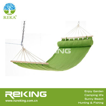 green cotton hammock