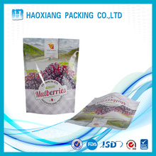 New Clear food packaging stand up plastic zipper bag with your own logo
