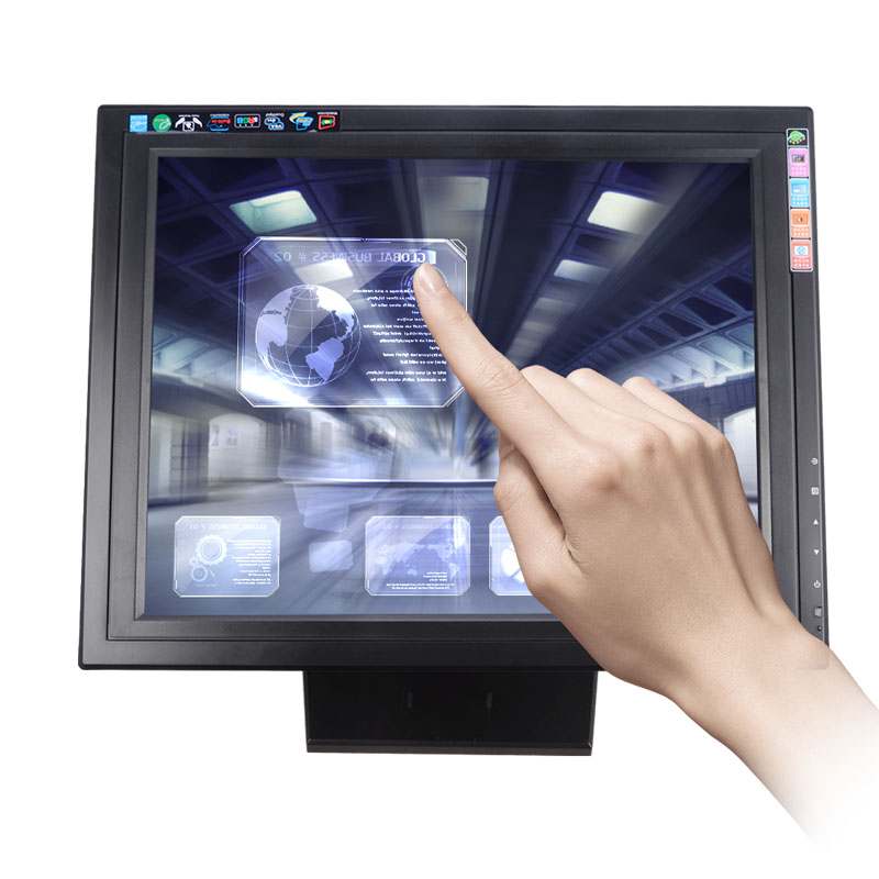 1280*1024 High Resolution 17 Inch USB LCD Touch Screen Monitor