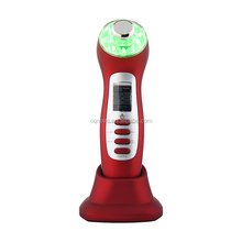 Newest Home Use USB Charged Ultrasonic Photon Wrinkle Remover NV-108S Facial Massage Bed