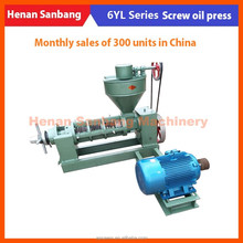 6YL-120 oil press 250kg per h /Peanut soyabean Rapeseed Sesame Sunflower seed/Oil pressers oil mill