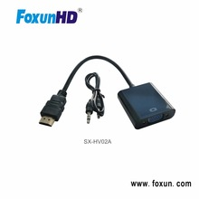 High Quality 1080P HDMI to VGA Converter adapter cable with audio