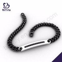 Black chain design wholesale nautical jewelry for men