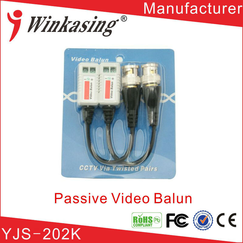 2016 best price for Single Channel passive video balu 1ch coaxial Video Balun YJS-202K