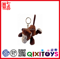 Plush Keychain animal Monkey toys stuffed small soft monkey toys