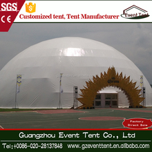 Large steel frame white PVC Egypt geodesic dome tent for sale