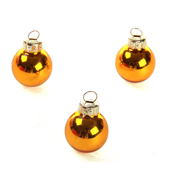 2.5cm gold Christmas glass ball