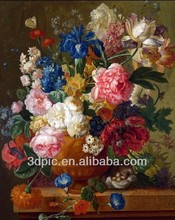 China supplier 3d oil painting of beautiful flower