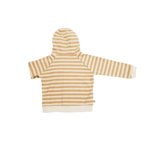 Best Seller Plain Long Sleeve 100% Organic Cotton Autumn Girls Baby Hooded Outfit Jacket