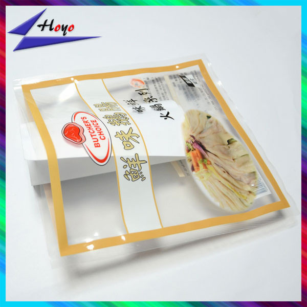 custom printed clear plastic sides seal dry soup sachet bags