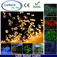 2016 hot rechargeable multicolor outdoor xmas tree decoration 12M 100LEDS solar string LED Wireless Christmas Tree Lights
