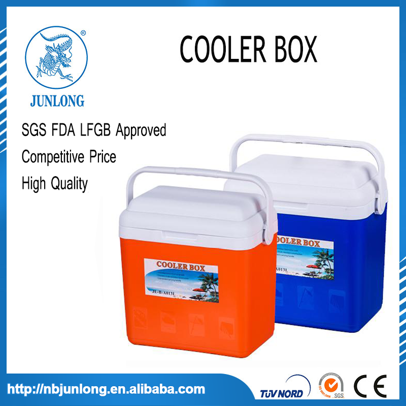 Outdoor Camping Portable Plastic 13L Cooler Box