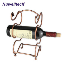 Wine racks high quality Wholesale Beautiful Metal wire manual wine rack for family gift