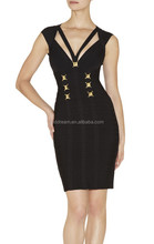 black strape bodycon bandage dress H1010