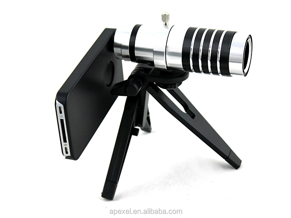 12x Zoom Telescope Camera Lens With Tripod Stand Hard Case ...