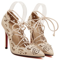 plus size Sexy Red Bottom High Heels Shoes For Women Fretwork Ribbons Party Shoes Woman Fashion Pigalle Shoes Women Pumps