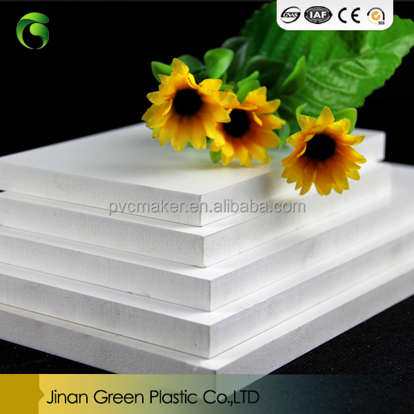 Green hot sale Waterproof forex Pvc foam board for kitchen cabinets