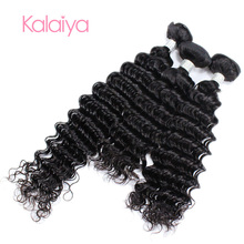 zhoukou hot sales deep wave human hair for braiding