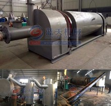 No pollution CE approved continuous system coconut shell charcoal carbonization furnace