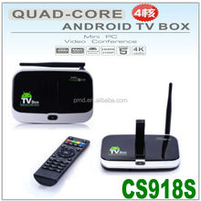 CS918S Allwinner A31S With 5.0MP Camera Support 4K vedio Quad core android 4.2 smart tv box