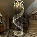 modern crystal stair lamp