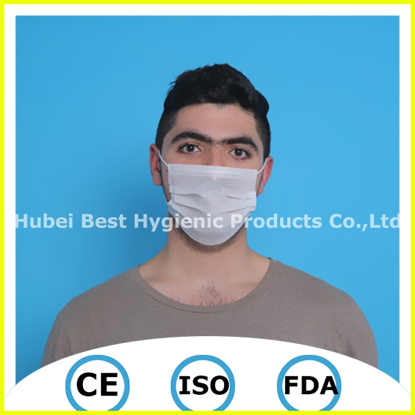 pp spun bond nonwoven face mask disposable face mask with transparent plastic film face mask brand