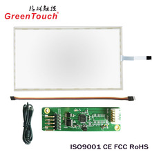 21.3 inch transparent glass 5 wire resistive touch screen panel with usb controlller
