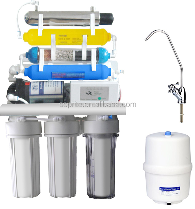 HIGH configuration Reverse Osmosis System with UV & computer RO Water Filter System