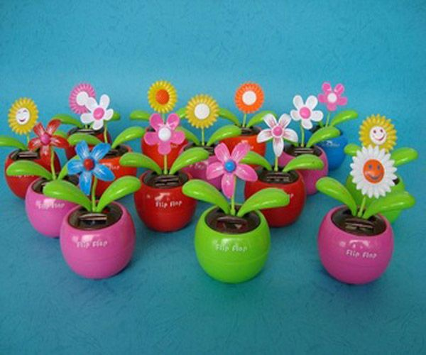 Wholesale 2016 Solar Powered Dancing Flower For Decoration