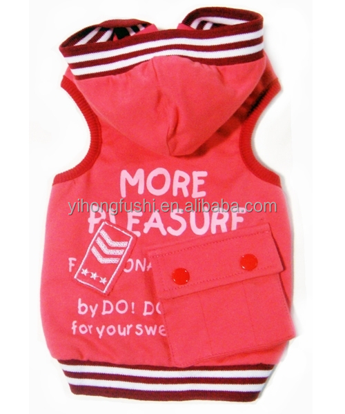 Wholesale Pet clothes/ Dog coat with Hoody/Nice designer dog clothes