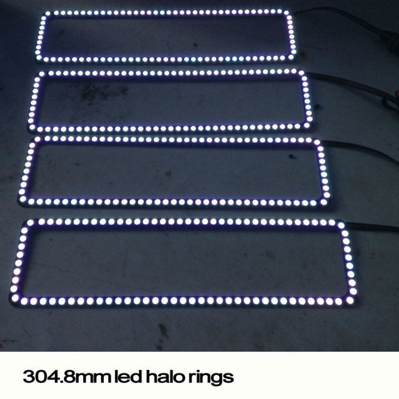 New arrival car light led angel eyes headlight halo ring kit for chevrolet
