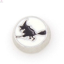 New product floating enamel animal charms dog believe heart locket charm