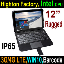 2017 Cheapest Factory 12 inch Intel Z8300 Quad-core 4GRAM 64GROM RS232 RJ45 rugged tablet pc, industrial pc with RS232 RJ45