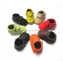 50 colors mixed wholesale baby shoes handmade genuine leather baby moccasins