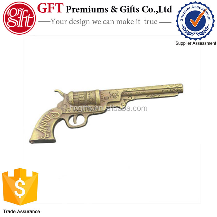 2016 new design metal 3d gun style craft for souvenir