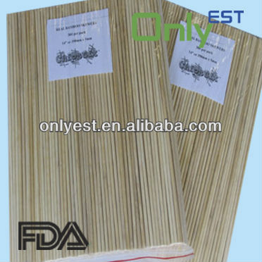 Various size disposable natural bamboo barbecue sticks fruit Sticks